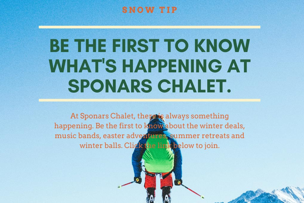 Sponars Chalet News